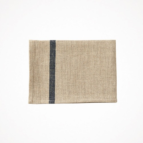 linen kitchen cloth - navy line natural