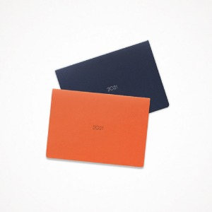 21 monthly planner - navy, orange