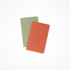 21 half diary set - orange + green