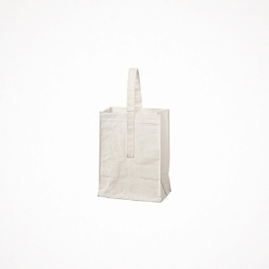 푸에브코 grocery bag with handle - small white