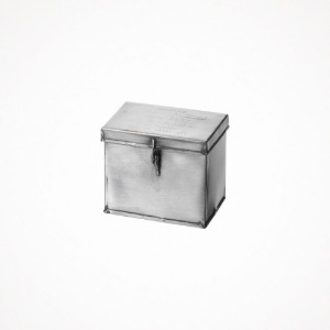 푸에브코 steel container with partition - small, natural
